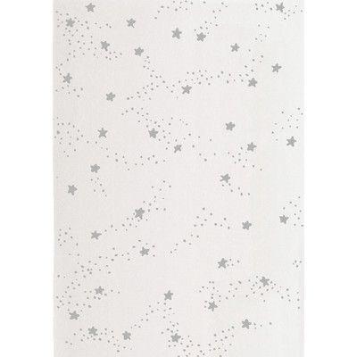 White & Grey Stars Rug