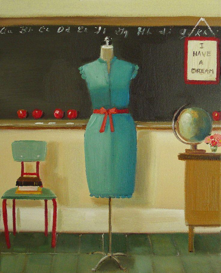 My Favourite Teacher Dress -Janet Hill