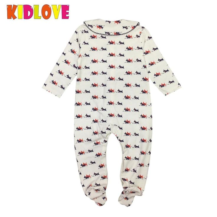 <January's Offer! Click Image to Buy!> KIDLOVE Newborn Baby Girl Boys Infant Baby Dogs Print Romper Cotton Long Sleeve Jumpsuit Clothes Cotton Winter Autumn Clothes YL * Just click the image to visit the  AliExpress.com