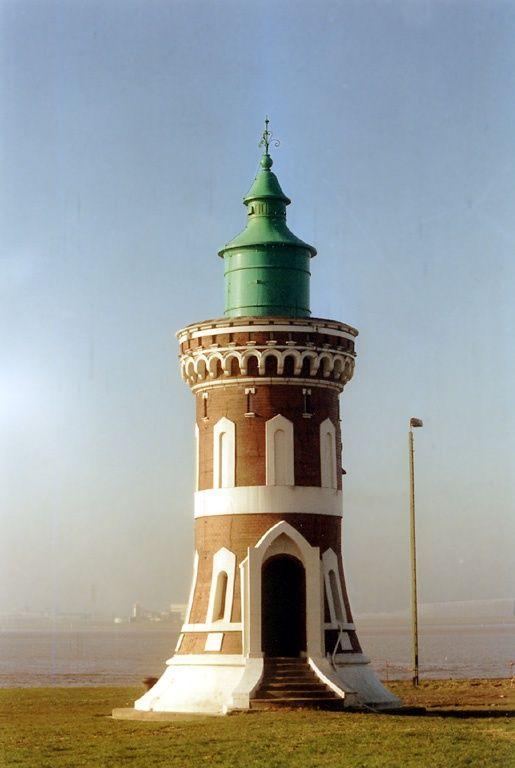 Lighthouse. Germany Die Weser, Bremerhaven