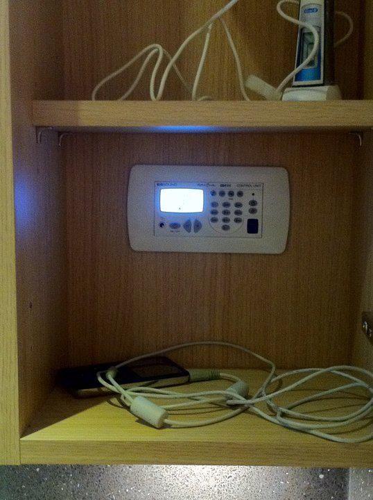 Dab Radio And Shaver Socket Hidden In Bathroom Wall
