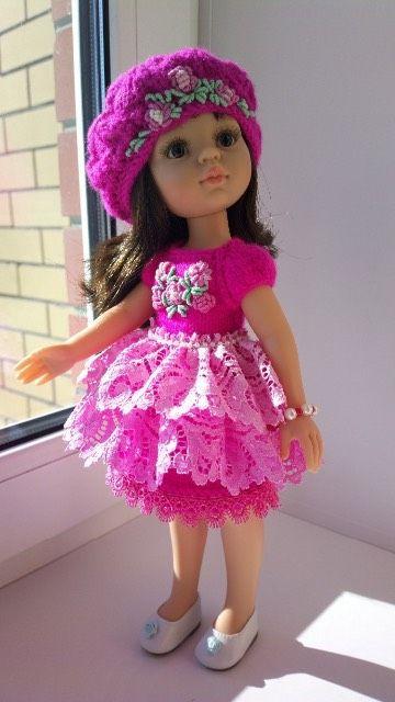 """Наряд,,Малиновый мусс"""" (вышивка рококо)- для Паола Рейна и кукол 31- 35см. / Одежда для кукол / Шопик. Продать купить куклу / Бэйбики. Куклы фото. Одежда для кукол"""
