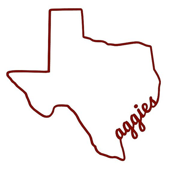 Items similar to texas aggies silhouette decal texas aggies decal car decal window decal texas sticker gig em texas am university on etsy