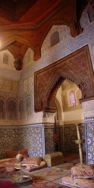 Dar Jamai Museum in Meknes, Morocco.