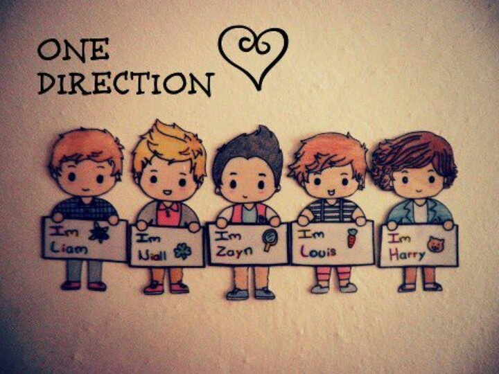 One Direction Cartoon This is awesome! Wish I had talent!