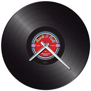 Rock n Roll Record Wall Clock http://www.19black.co.nz/webapps/p/102492/335781/935340