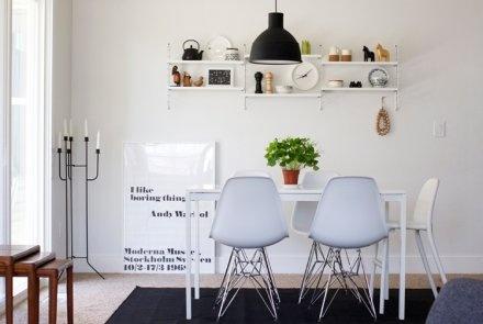 @Kristoffer Åkesson Klintberg Pockethyllor/smalare hyllor i vardagsrummet, vid matbordet eller över sideboard.  Alternativt i köket.