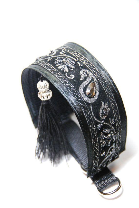 Greyhound collar with tassel Saluki Whippet Lurcher by dimanott
