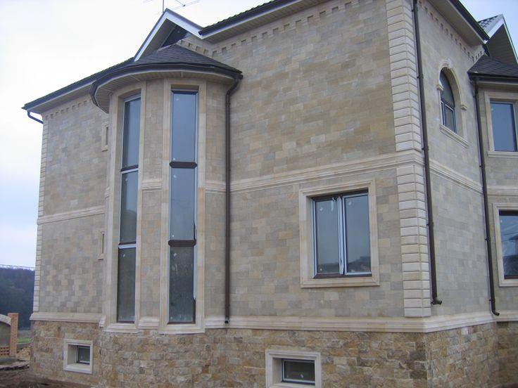 Облицовка фасада камнем