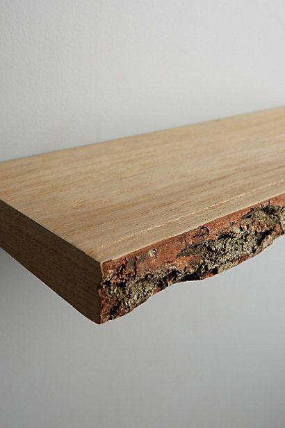 Live Edge Wood Floating Shelf Anthropologie Com