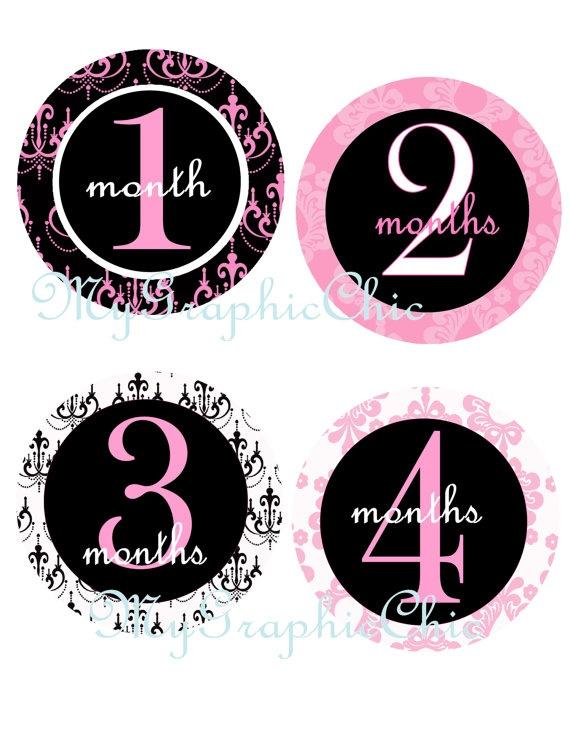 HUGE SALE Monthly  Baby Onesie Stickers DIY by MyGraphicChic, $3.95: Baby Girls Onesie, Girls Generation, Baby Stickers, Baby Baby, Baby Announcements, Baby Ideas, Baby Onesie, Baby Stuff, Baby Shower