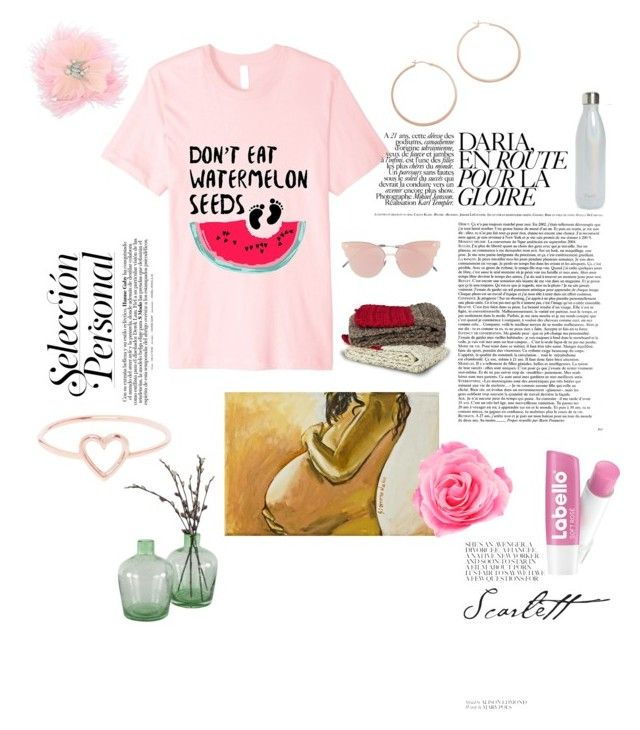 Do Not Eat Watermelon Seeds Women's Pregnancy Announcement  Set by familymily on Polyvore featuring MemWear, Love Is, Jennifer Zeuner, Betsey Johnson, Beekman 1802, So.Ya, NOVICA, S'well and Pregnancy