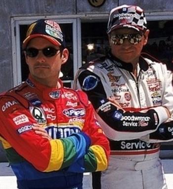 Jeff Gordon - Dale Earnhardt ... legends of racing (photo from www.bleacherreport.net)