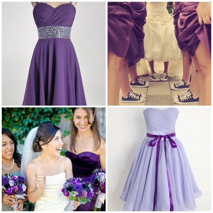 67 best Purple Bridesmaid Dresses images on Pinterest | Wedding ...