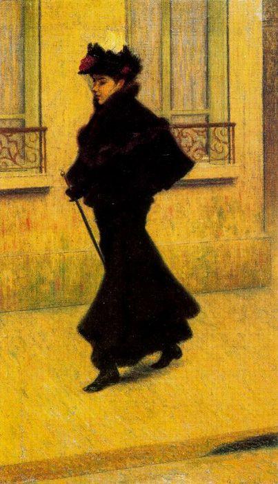 La Parigina by Federico Zandomeneghi (1841-1917)
