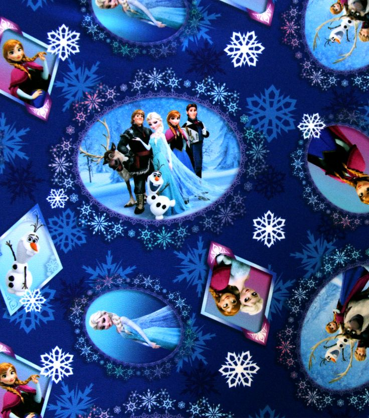 Disney Frozen Scenic Patch Twill Polyester Fabric Disney