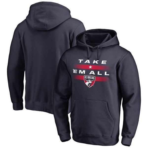 FC Dallas Fanatics Branded Switch Pullover Hoodie - Navy - $59.99
