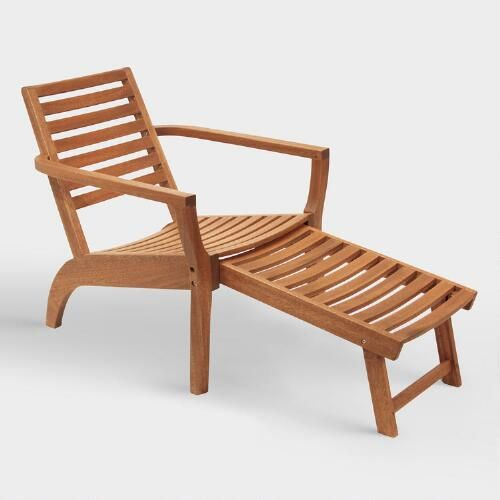 One of my favorite discoveries at WorldMarket.com: Wood Lars Lounger Chairs with Ottoman Set of 2