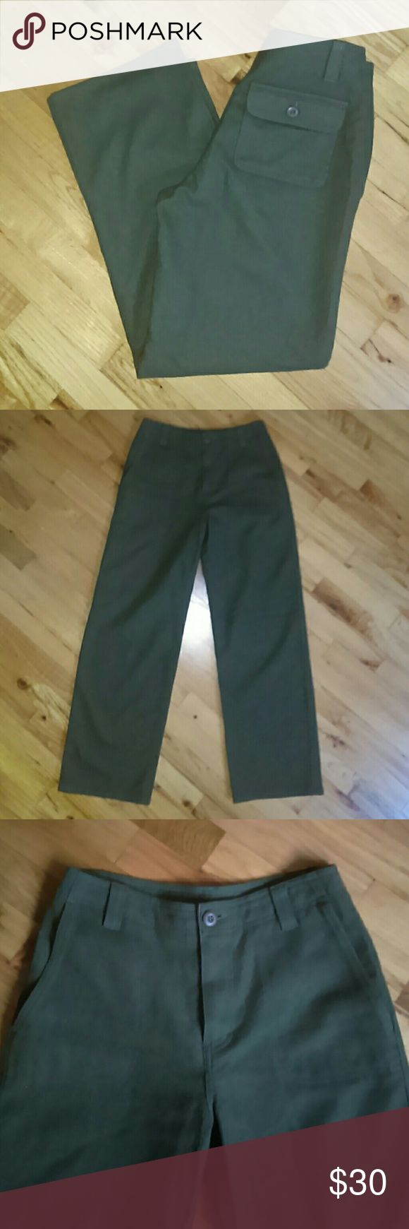 NWOT Marks & Spencer Wool Army Pant These are so great. Fully lined. Army drab. Fully lined. Marks & Spencer Pants Trousers