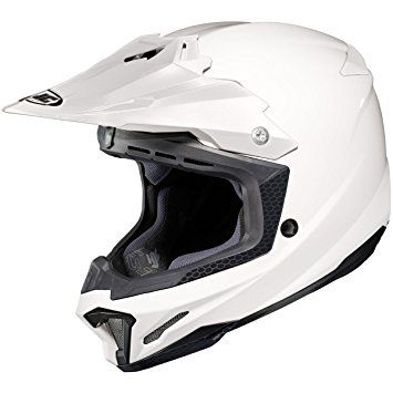 HJC Solid Mens CL-X7 Off-Road/Dirt Bike Motorcycle Helmet – White / X-Large