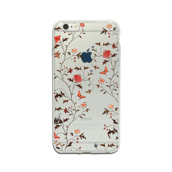Clear iPhone 7 iPhone 6 flower phone case transparent iPhone