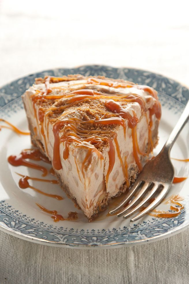 This clever dessert fills a spicy gingersnap pie crust with an apple pie-inspired ice cream.