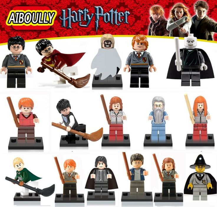 All AIBOULLY Harry Potter Single Sale Minifigures Hermione Ron Lord Voldemort Draco Malfoy Blocks Models & Building Toys
