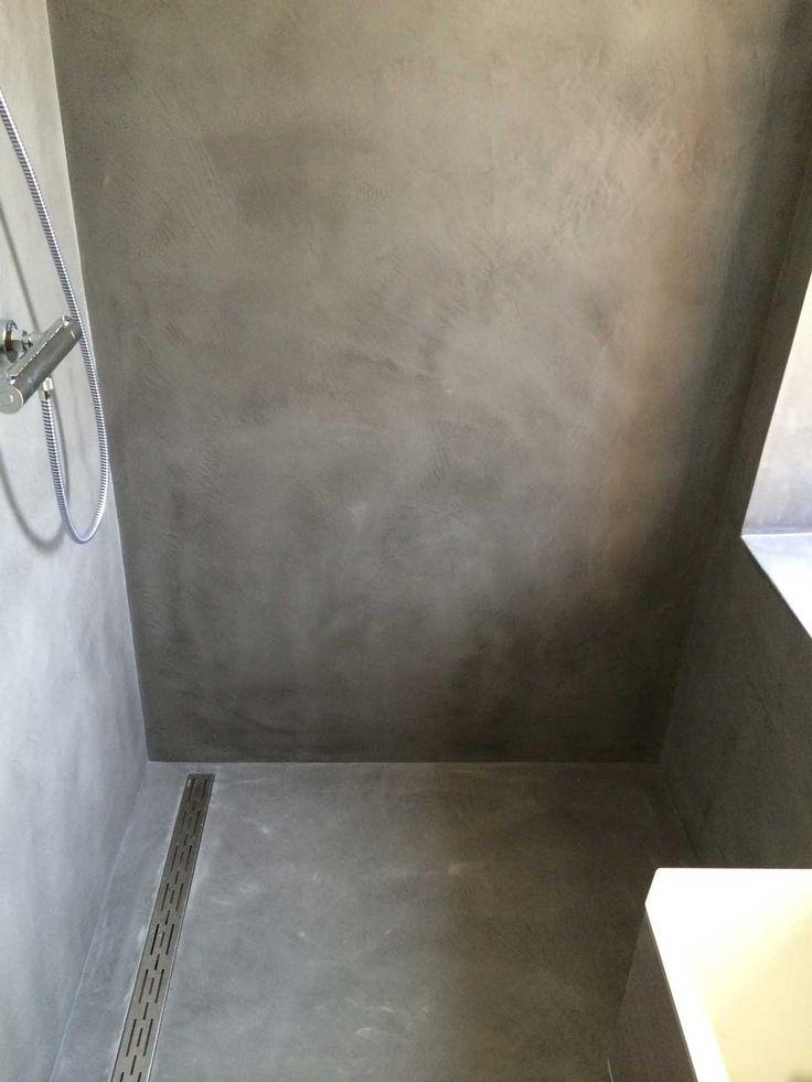 Gestucte badkamers betonlook beal mortex