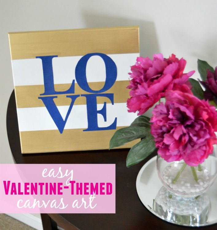 Easy Valentine Themed Canvas Art An Inexpensive Way To