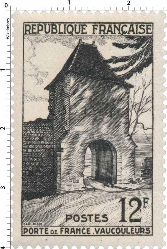 France Stamp - Porte de France - Vaucouleurs (1952)
