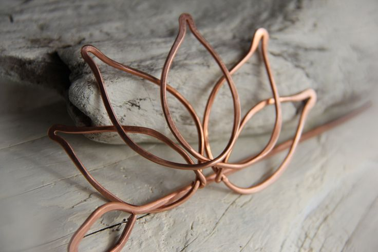 "Hair slide, hair barrette, hair fork, hair pin, hair stick copper ""Lotus"" by Keepandcherish on Etsy https://www.etsy.com/listing/180703001/hair-slide-hair-barrette-hair-fork-hair"