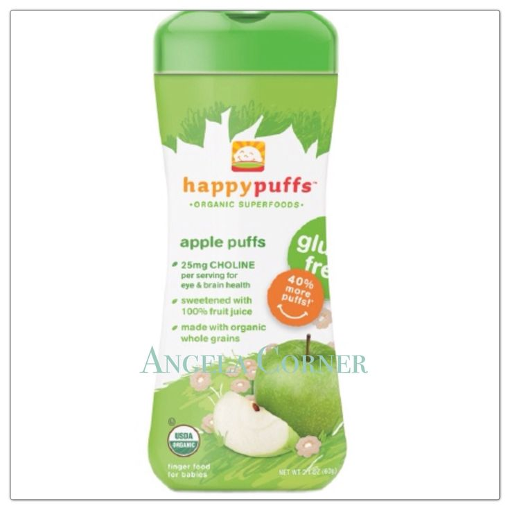 happy PuffsOrganic Superfoods - Apple puffs 2.1Oz (60gr)