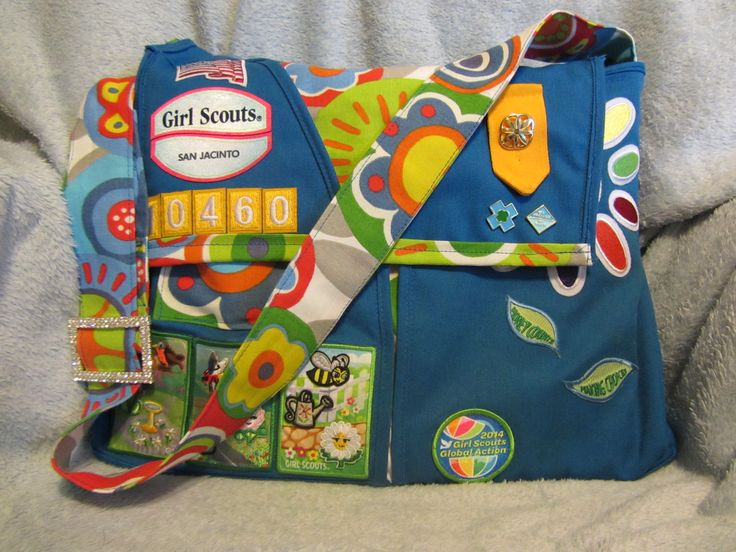 From daisy girl scout vest to messenger bag.