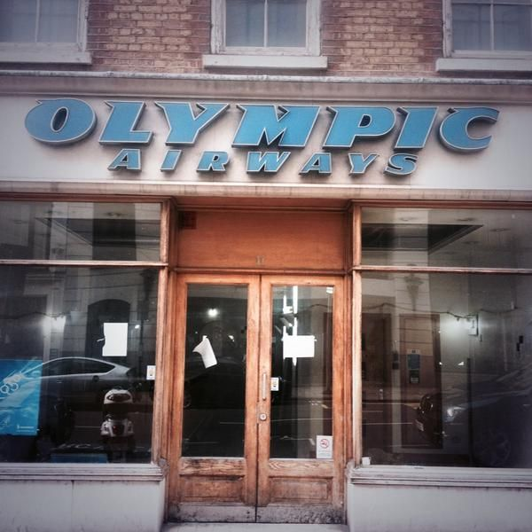 Empty Olympic Airways shop on Conduit Street via @ofthesorrows