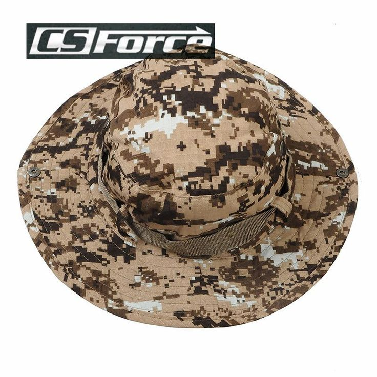 CS Force Military Fishing Hiking Caps Boonie Hat Men Bucket Cap Wide Brim Camouflage Sun Hat Military Jungle Camouflage Hat