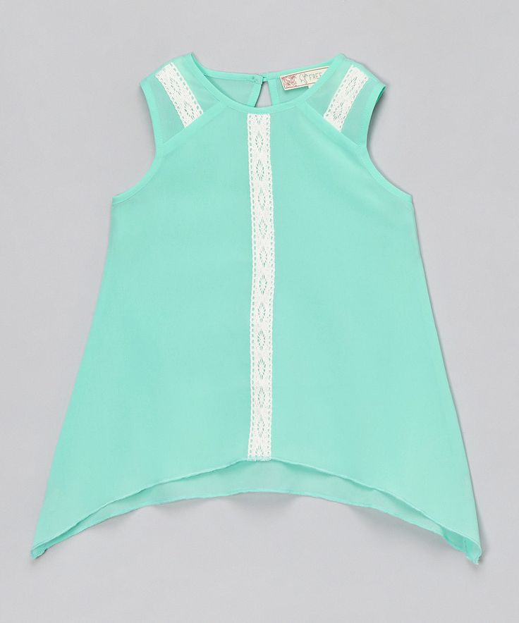 This Free Planet Mint Sidetail Top - Girls by Free Planet is perfect! #zulilyfinds