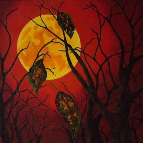 The end of autumn, acrylic on canvas 2005, Angela Kuckartz