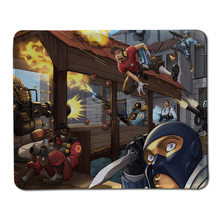 Team fortress 2 Anime Mouse Pad High Quality Durable Large Gaming Anti-slip Mouse Pad Anime gaming mouse pad Rubber Mouse Mats