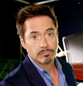 Scrunchy faced RDJ- soooo Cute