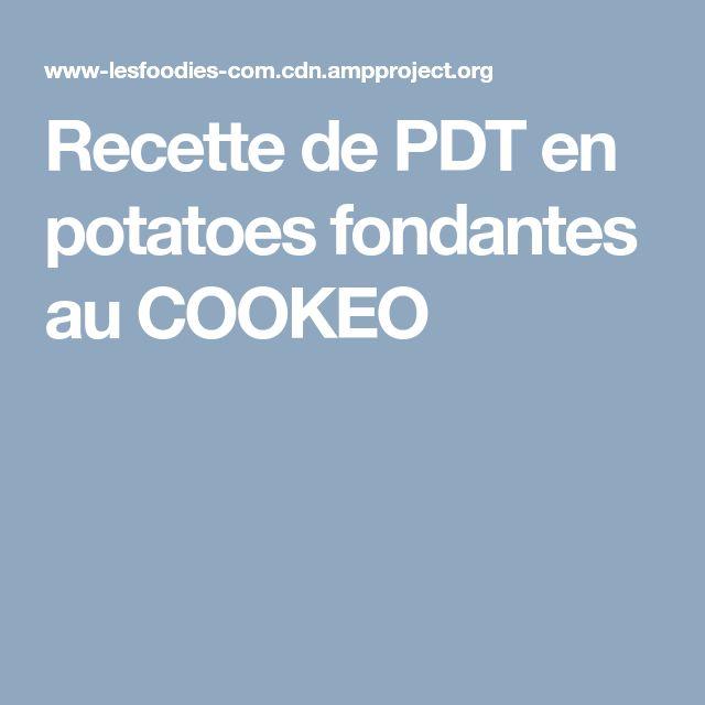 Recette de PDT en potatoes fondantes au COOKEO