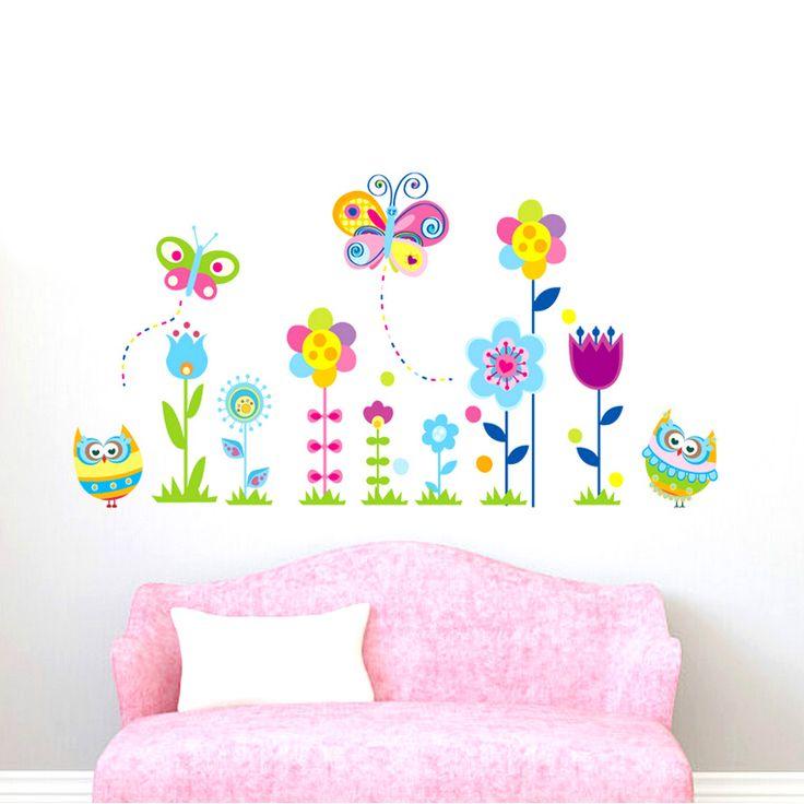 Pillangók, virágok és baglyok falmatrica  #virág #pillangó #lepke #bagoly #gyerekszobafalmatrica #falmatrica #gyerekszobadekoráció #gyerekszoba #matrica #faldekoráció #dekoráció
