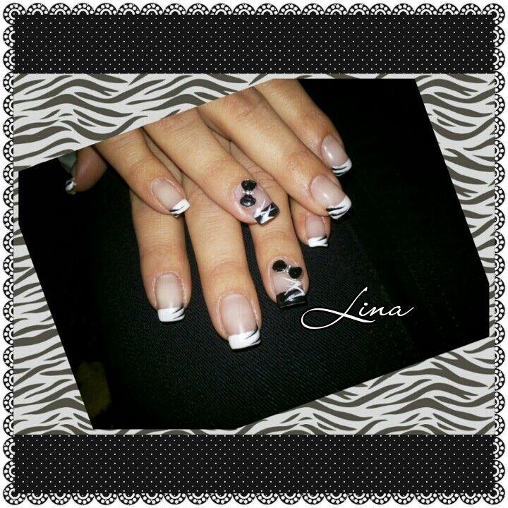 #black&white #french #metalicbow #nailart