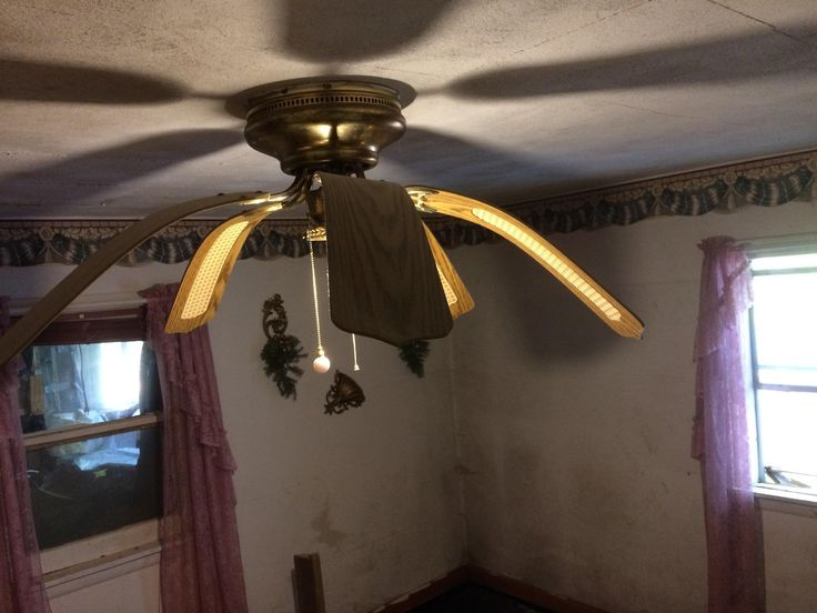 This Ceiling Fan Warped By Humidity Interesting Stuff