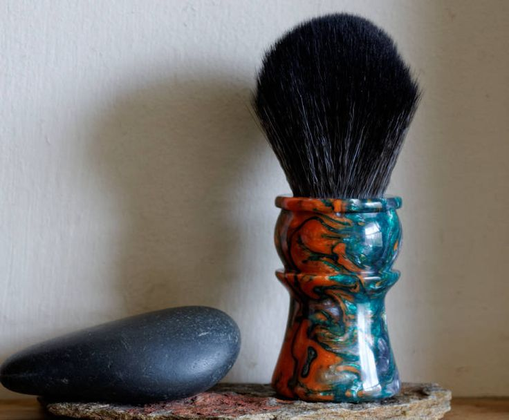 Shaving Brush - Hand-Made with Silver Venom Resin Handle and a Choice of Knots by LoveYourShave on Etsy