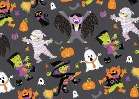 Steph Calvert/This Halloween Repeat Pattern represented by Liz Sanders Agency