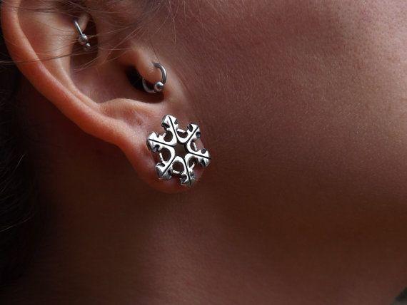 Snowflake Water Flake Ear Tunnels Plugs by ilAlexandraDesign
