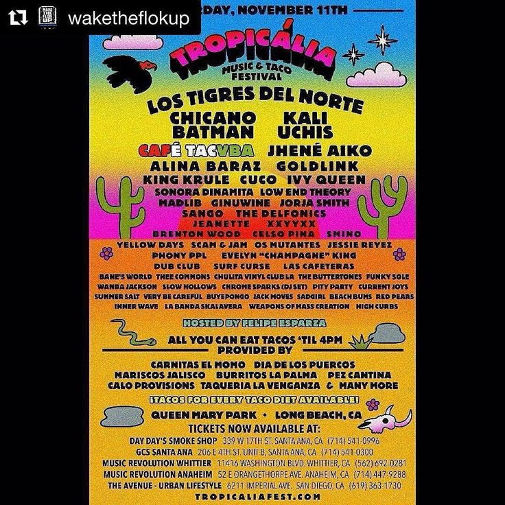 #Repost @waketheflokup (@get_repost)  from @outdahouse -  OUTDAHOUSE WILL BE GIVING AWAY 2 FREE VIP TICKETS TO #TROPICALIA FESTIVAL NOVEMBER 11th AT QUEEN MARY PARK  HERES HOW TO WIN!! 1. LIKE THIS POST  2. REPOST FLYER & TAG US ON INSTAGRAM  3. COMMENT & TAG A FRIEND YOU WANT TO BRING BELOW  WE WILL PICK A WINNER AT 8PM FRIDAY NIGHT!Subscribe for free on ITunes for our full archives & hear a new episode every week!  REAL. DEFINITIVE. INTERVIEWS  #WakeTheFlokUp http://ift.tt/1qelwif -Named…