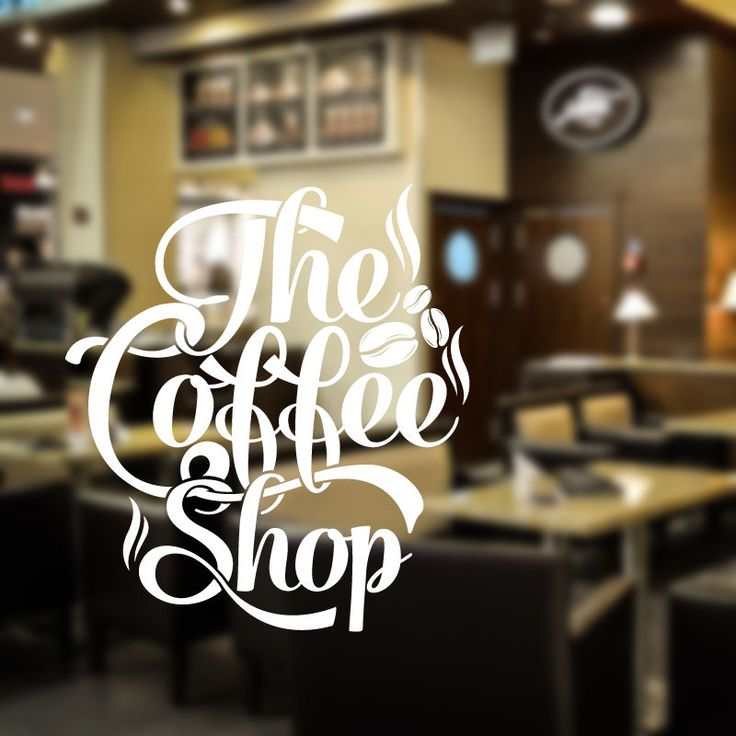 The coffee shop wall decal art sticker vinyl decal quote cafe restaurant cof7