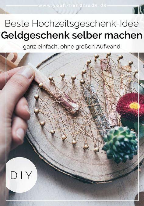 DIY Geldgeschenk zur Hochzeit basteln – geschenke