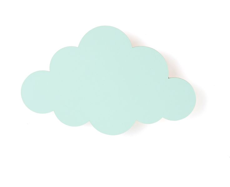 649KR LAMPE - FERM LIVING CLOUD  (MINT) from minikids.no 40x25cm